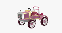 3d model of tractor princess peach