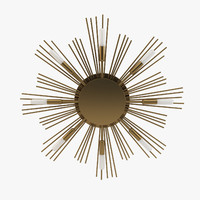 3d modern wall light - model