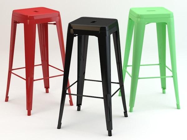 3d model of tolix stool