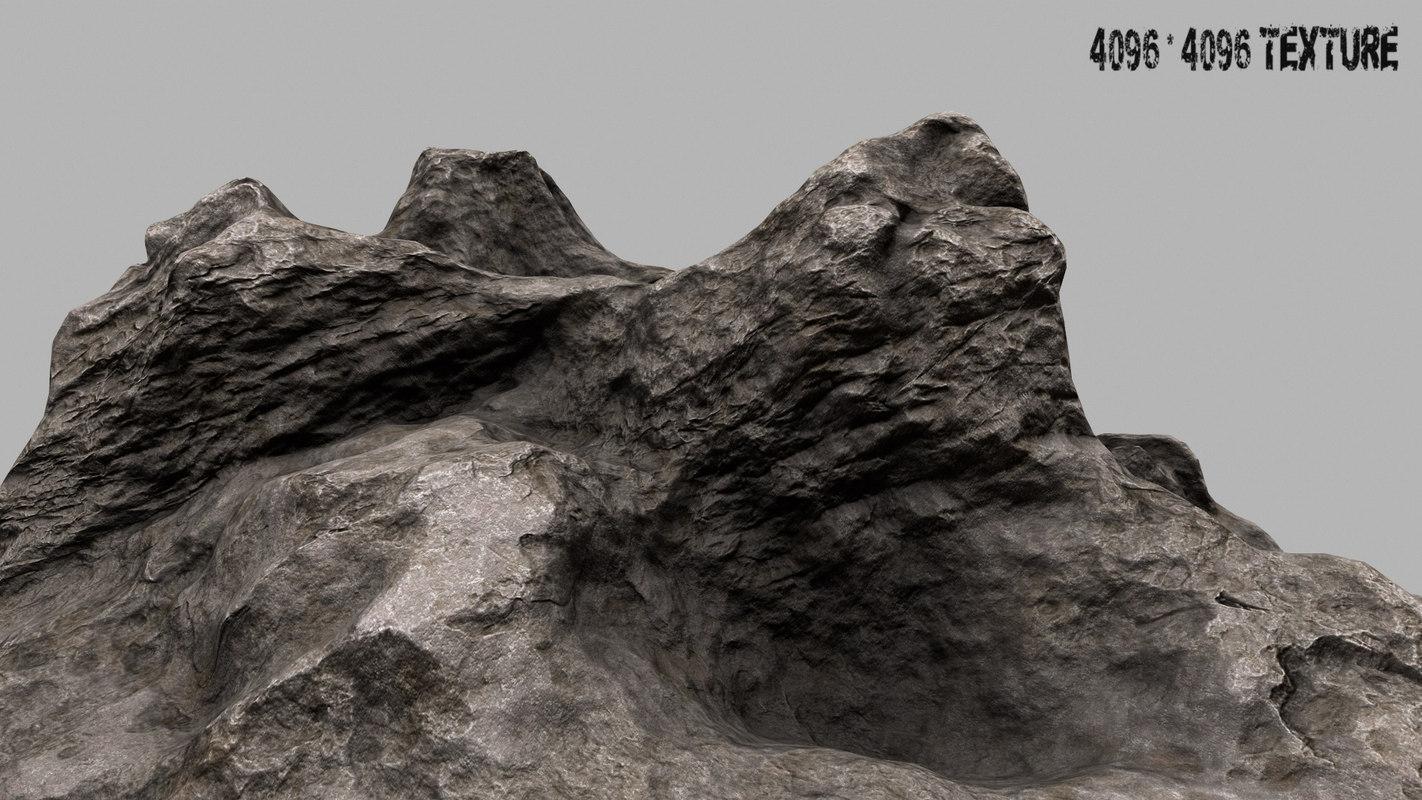rock mount 3d obj