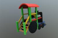 3d playground train model