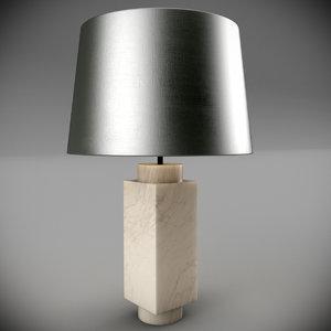3d model genoa table lamp