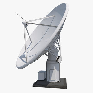 3d radio telescope antenna kat-7 model
