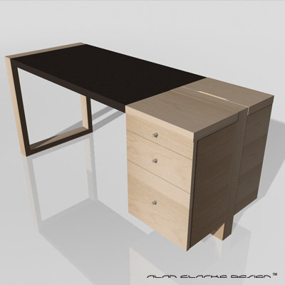 c4d simple office desk