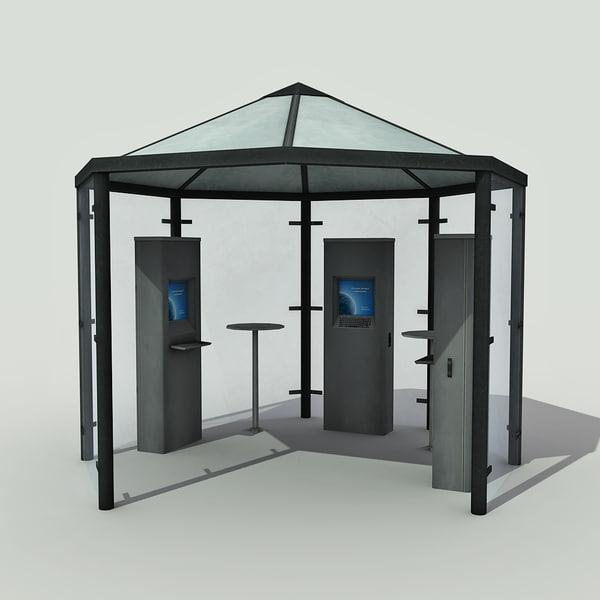 multimedia kiosk - 3d model