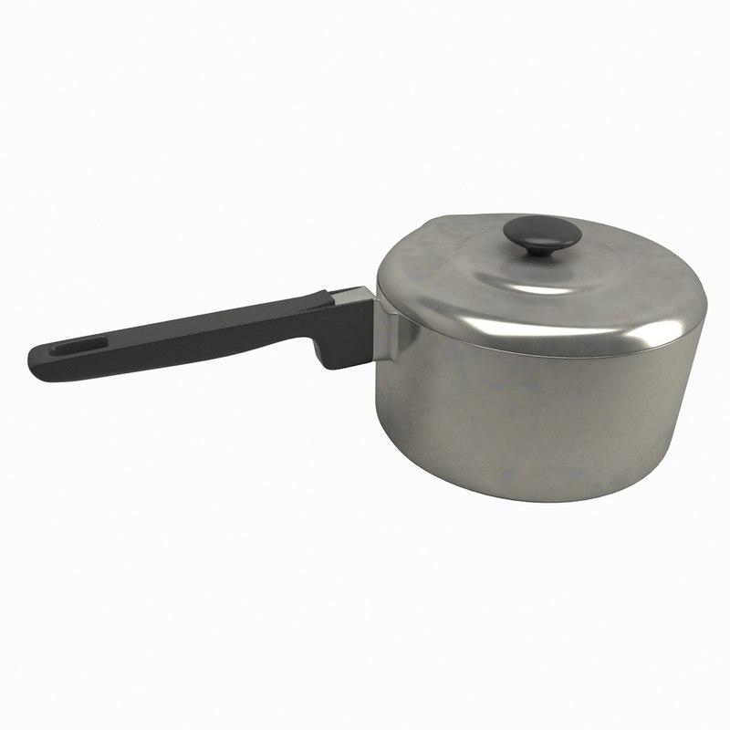 metal saucepan obj
