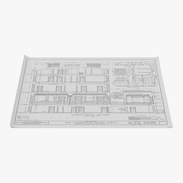 house blueprints 3 3d model