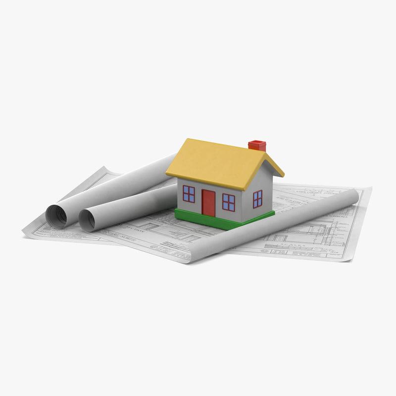 3d max toy house blueprints