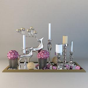 deer candle 3d model