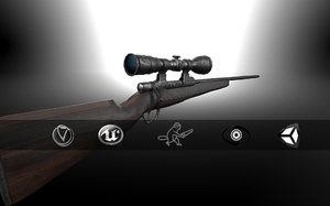 3ds hunting sniper rifle
