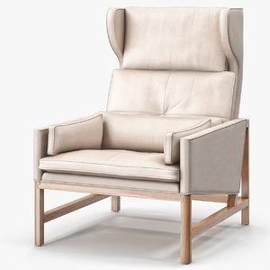 cb-51 wing lounge chair 3d model