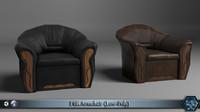 3d armchair pbr model