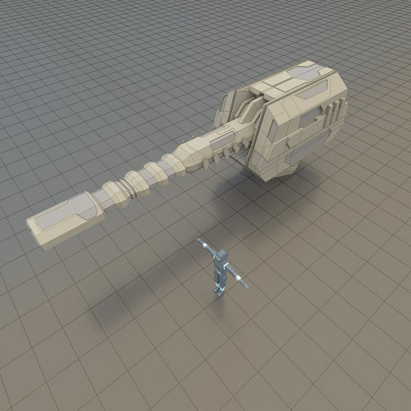3d energy cannon