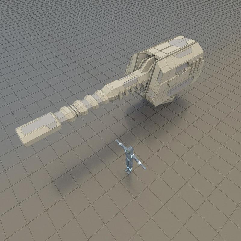 3d energy cannon