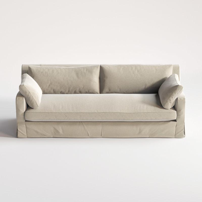 Belgian Slope Arm Sofa