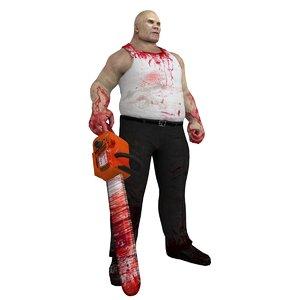 3d rigged butcher model