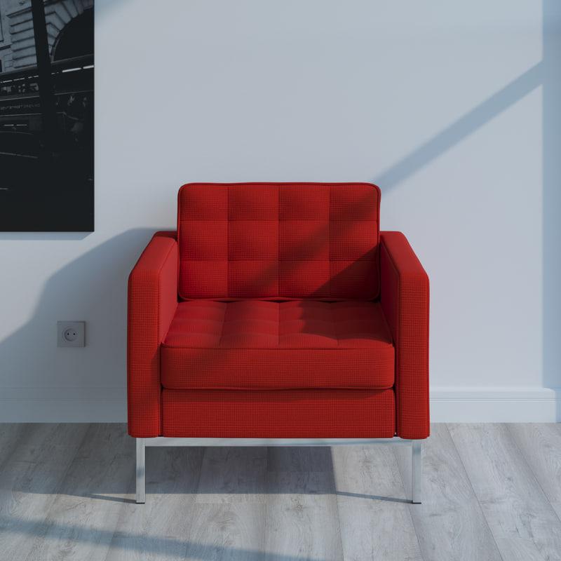 3d model florence knoll lounge
