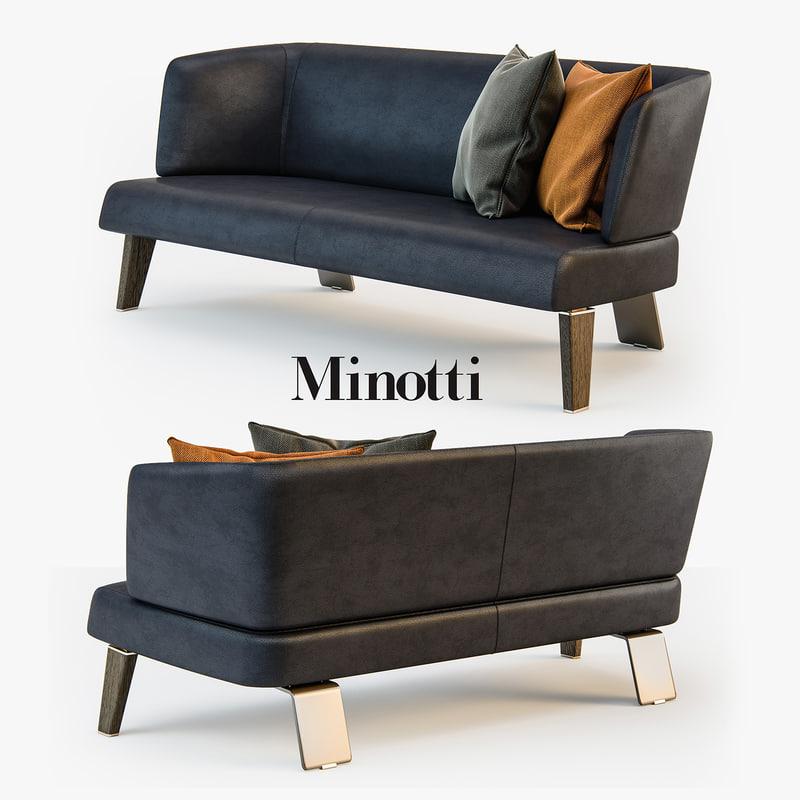3d minotti creed lounge sofa