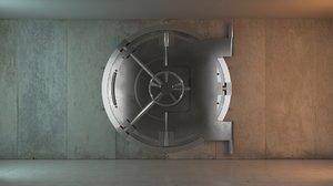 bank vault 3d max