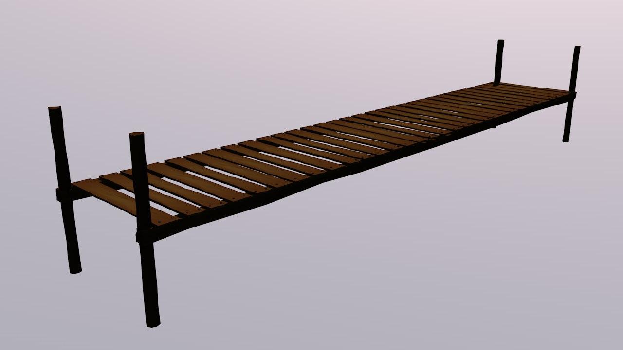 free bridge railings 3d model