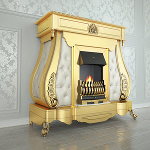 3d fireplaces gold