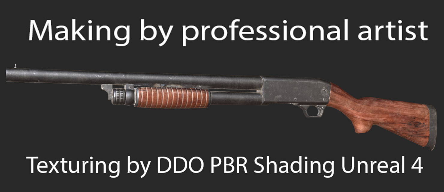 shotgun m37 gun 3d model