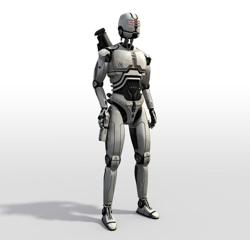 3d robot sci fi model