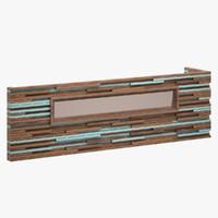 decorative wall unit 3d max