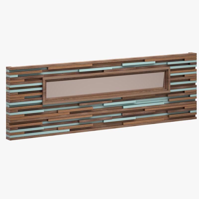 decorative wall unit 3d model