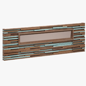 decorative wall unit 3d model
