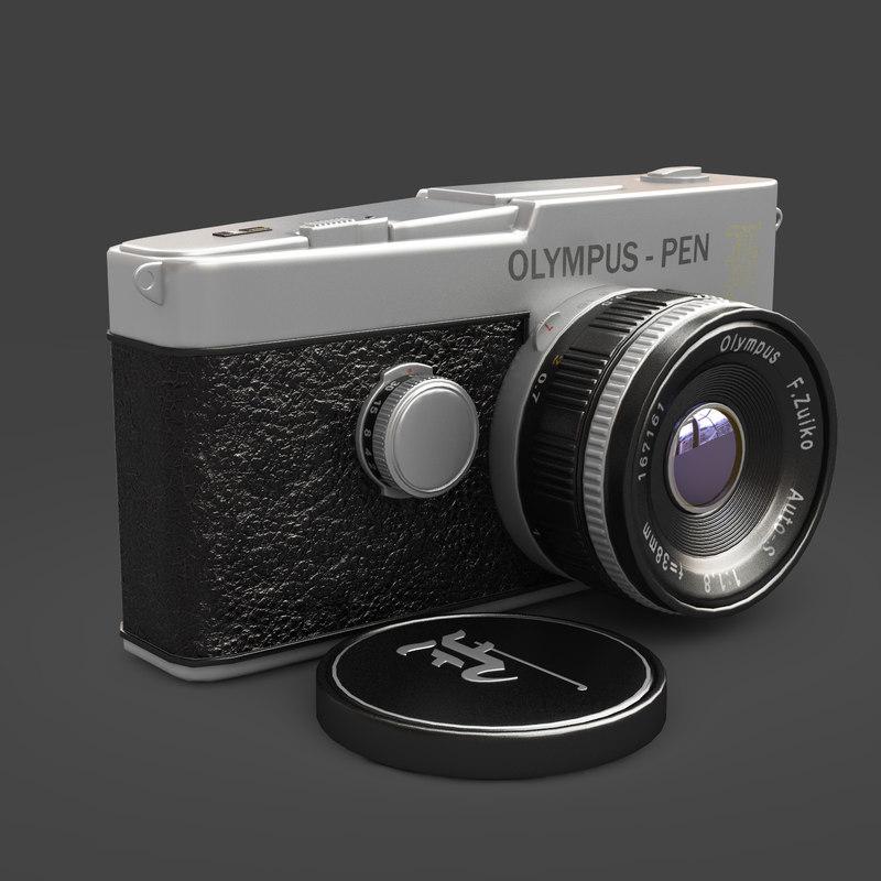 classic photo camera olympus max