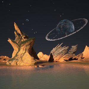 3d model of alien landscape