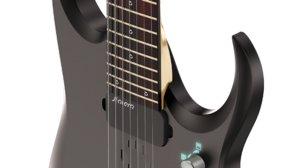 3d model ibanez prestige guitar