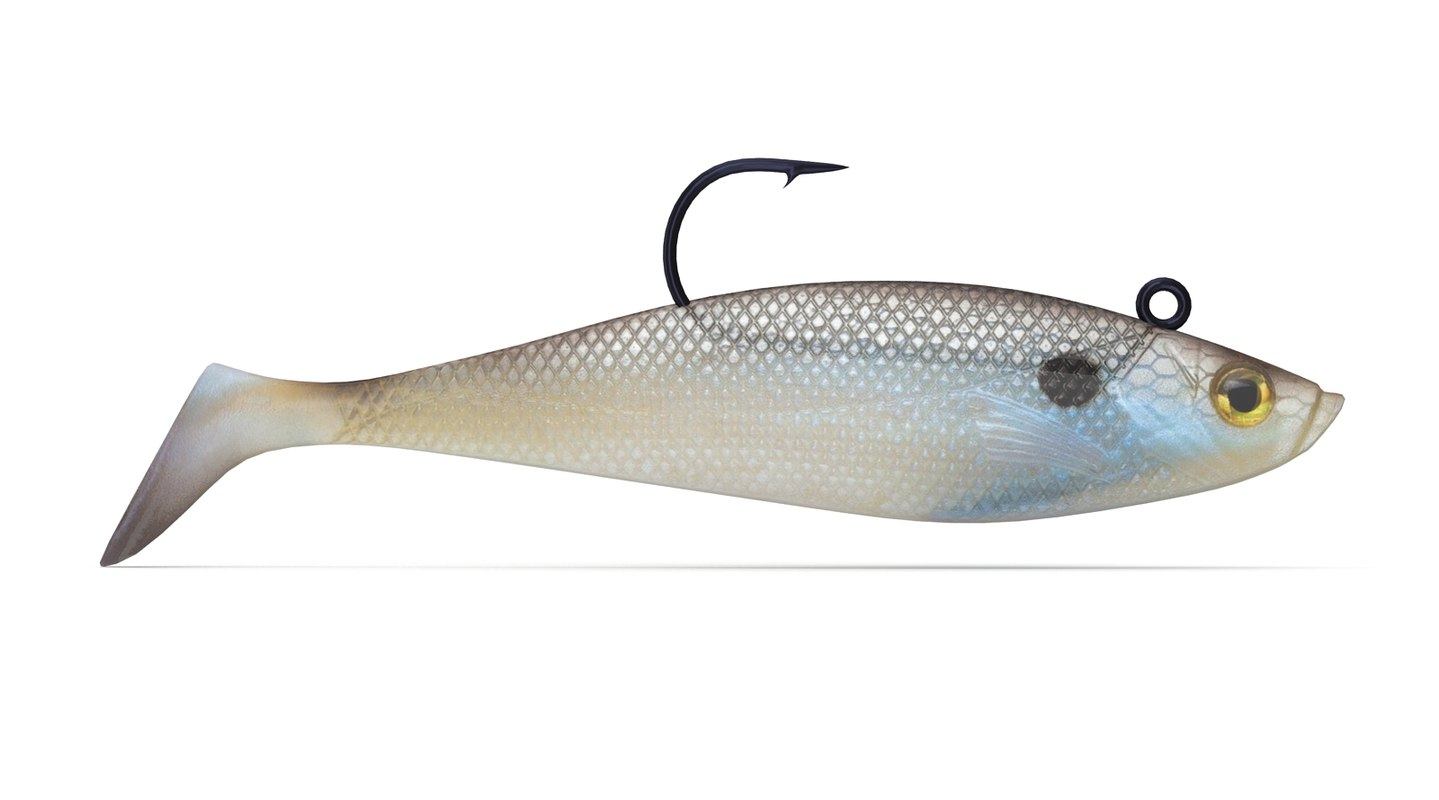 3d jelly shad lure model