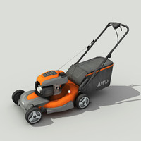 Lawn Mower - Low poly