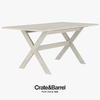 3d realistic picnic dining table model