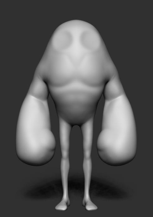 obj stylized body form
