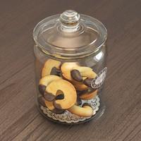 3d jar cookies model