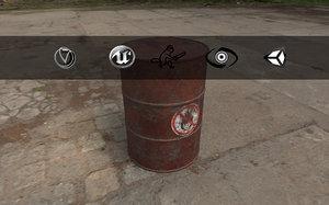 3d barrel unreal unity