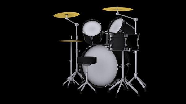 3d drum set model
