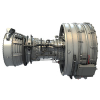 3d cfm international cfm56 turbofan