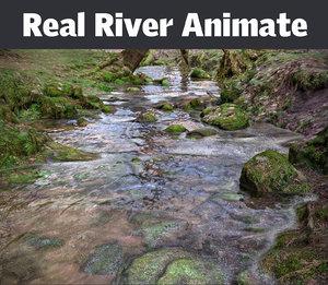 3d real river model