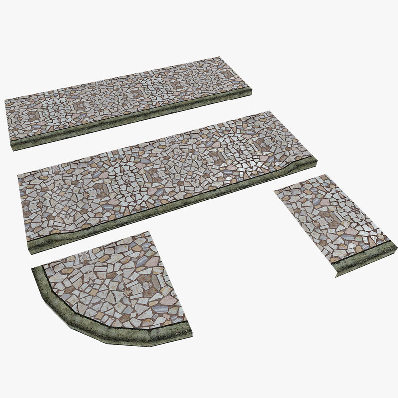 modular pavement 3d model