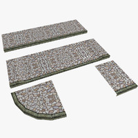 modular pavement 3d model