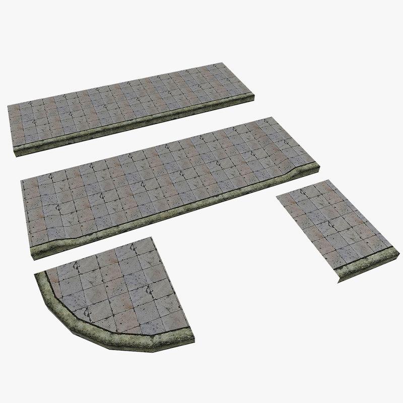 3d model modular pavement