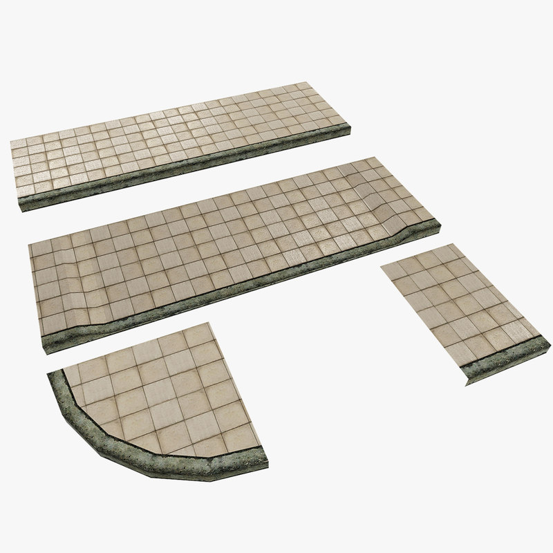 3d modular pavement model