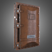 Industrial Metal Blast Door - PBR Game Ready