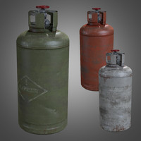 Gas Cylinder - PBR Game Ready