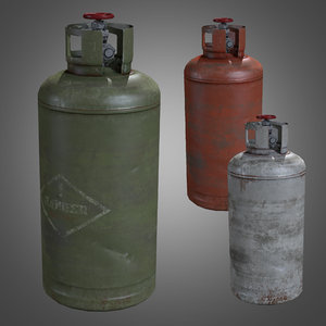 3d model of gas cylinders - pbr