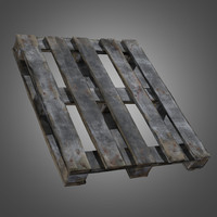 old wooden pallet - 3d obj